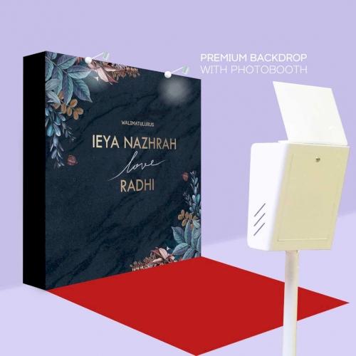 Wedding Photobooth Premium Backdrop